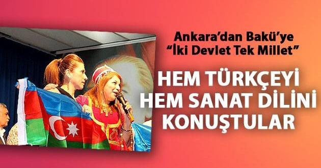 Ankara-Bakü Sanat Kardeşliği
