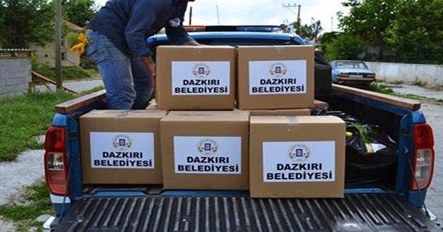 Dazkırı Belediyesi'nden Ramazan Yardımı