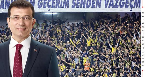 Beşiktaşlı taraftarlardan İmamoğlu'na destek!