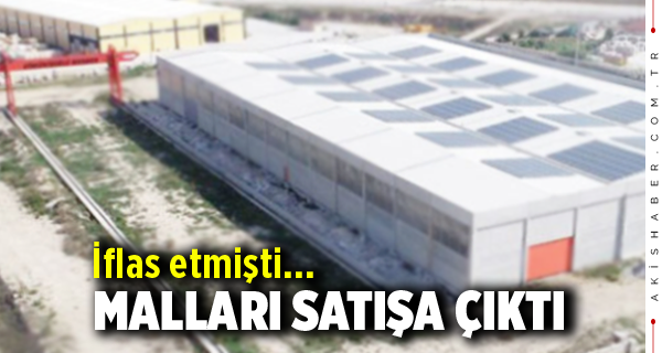 Denizli'de Mermer Fabrikasının Malları Satışa Çıktı