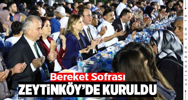 Bereket Sofrası Zeytinköy'de Kuruldu