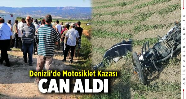 Denizli'de Motosiklet Kazası Can Aldı