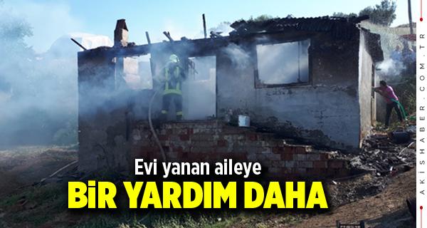 Buldan'da Evi Yanan Aileye Bir Yardım Daha