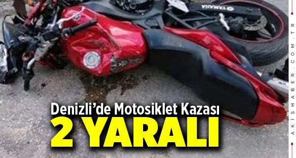 Denizli'de Motosiklet Kazası: 2 Yaralı