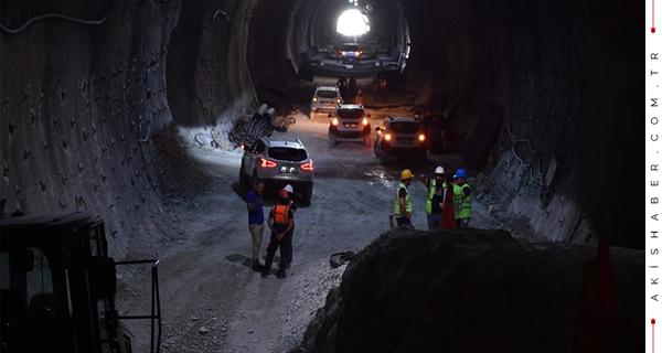 Honaz Tünelinden İlk Geçiş Yapıldı