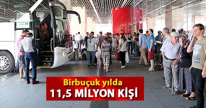 11,5 milyon yolcu