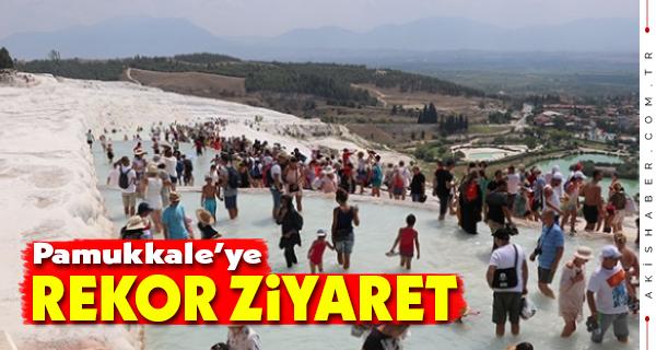 Pamukkale'ye Rekor Ziyaret