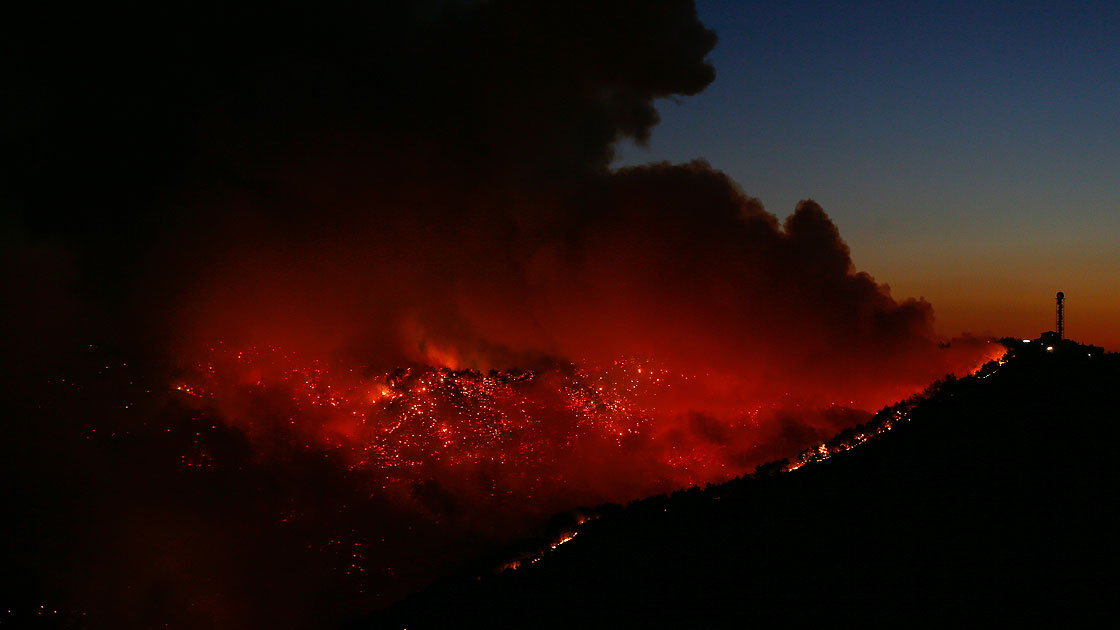 İzmir alev alev yanıyor!