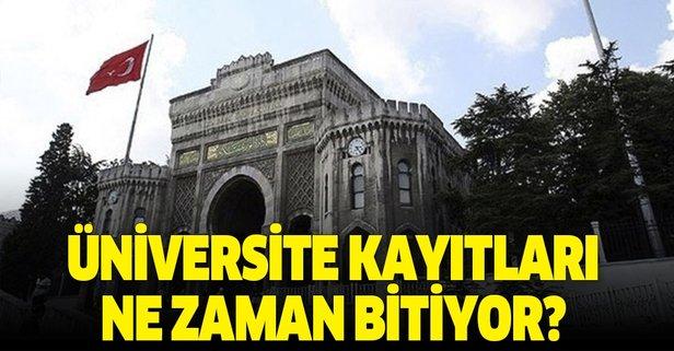 2019 Üniversite kayıtları ne zaman sona erecek?