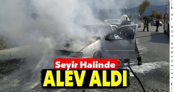 Denizli'de Otomobil Alevlere Teslim Oldu