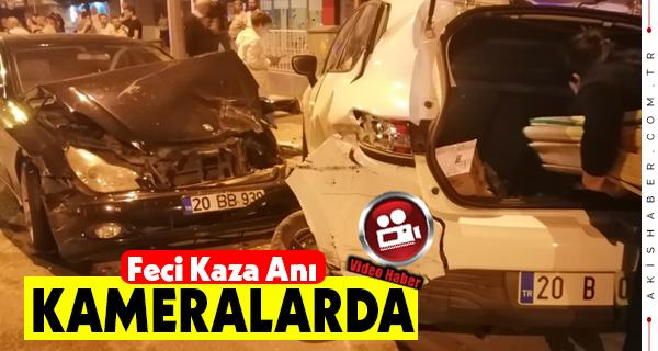 Denizli'de 12 Aracın Karıştığı Kazada 2 Kişi Yaralı