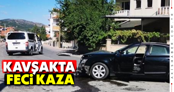 Çivril'de İki Araç Birbirine Girdi: 2 Yaralı