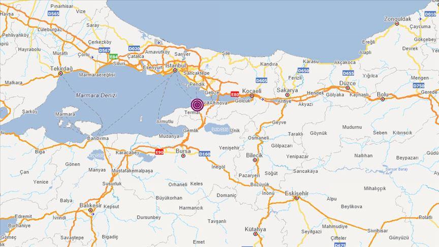 İstanbul ve Yalova'da 4 büyüklüğünde deprem