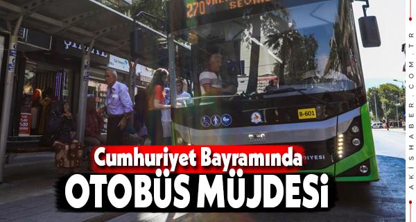Büyükşehir'den 29 Ekim'de Otobüs Kararı