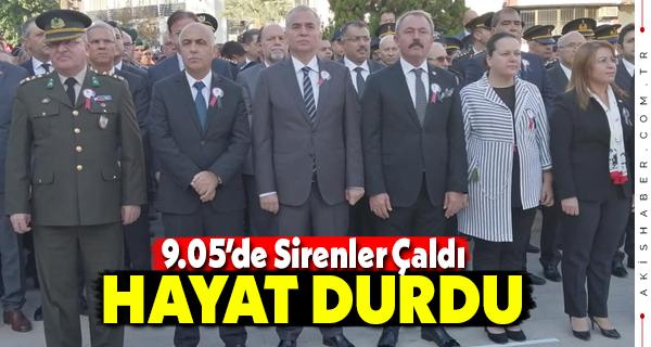 Denizli'de Atatürk İçin Anma Töreni Yapıldı