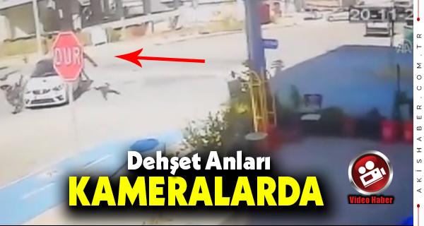 Denizli'de Otomobilin Çarptığı Motor Sürücüsü Yaralandı
