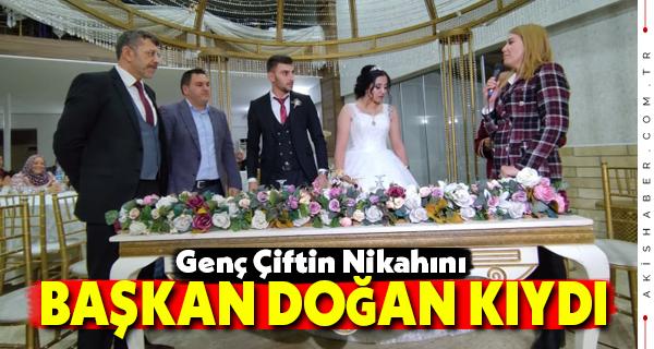 Genç Çiftin Nikahını Başkan Doğan Kıydı