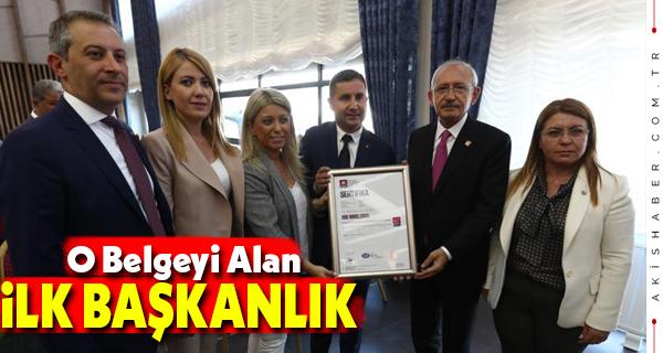 CHP Merkezefendi İlçe Başkanlığı Türkiye'de İlki Gerçekleştirdi
