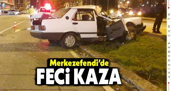 Denizli'de Kontrolden Çıkan Araç Kaza Yaptı: 1 Yaralı