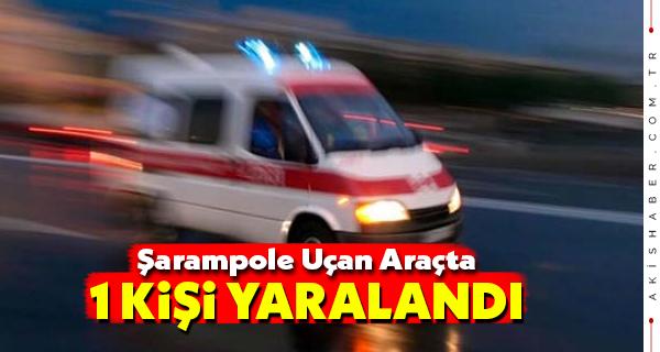 Çivril'de Kontrolden Çıkan Araç Kaza Yaptı