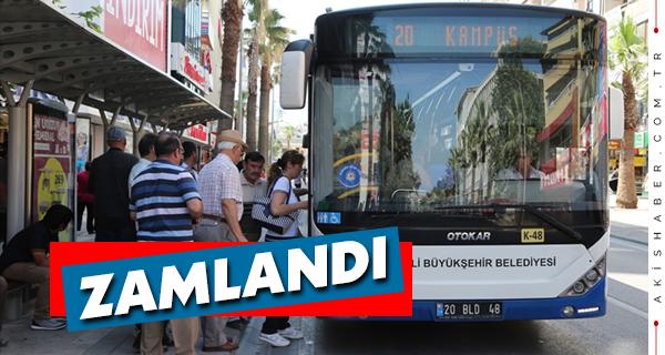 Denizli'de Şehir İçi Otobüs Ücretlerine Zam Geldi