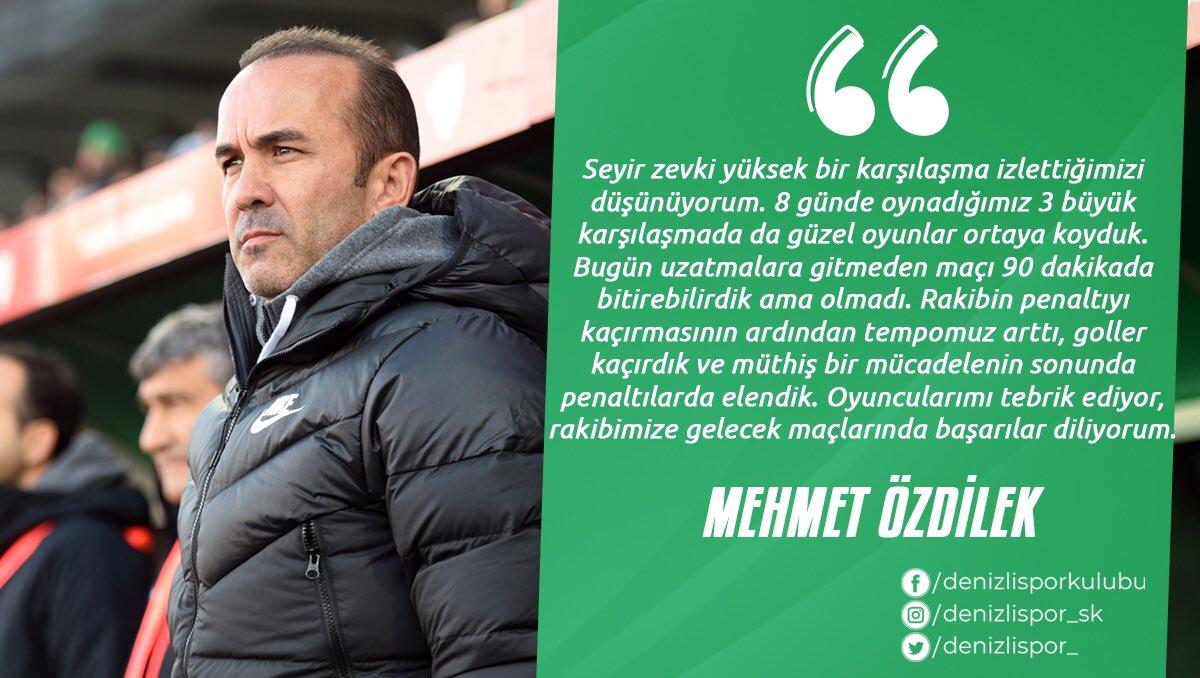 Mehmet Özdilek'ten övgü