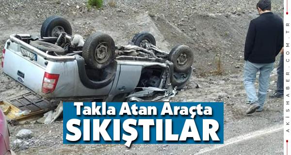 Denizli'de Kaygan Yol Kaza Getirdi: 2 Yaralı