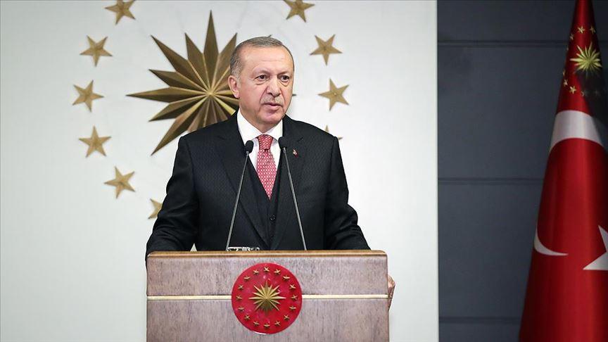 Erdoğan'dan Milli Dayanışma Kampanyası'na destek