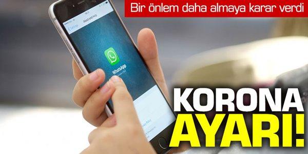 WhatsApp'tan korona virüs ayarı!