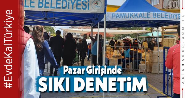 Pamukkale Belediyesi Pazar Yerlerinde Teyakkuzda
