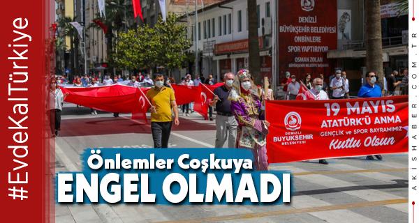 Denizli'de 19 Mayıs Coşkusu Büyükşehir Kortejiyle Yaşandı