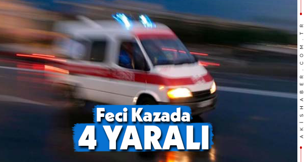 Denizli'de Takla Atan Araçta 4 Genç Yaralandı