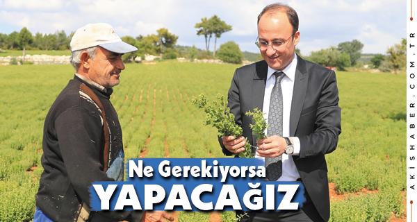 Başkan Örki Çiftçilere Moral Verdi