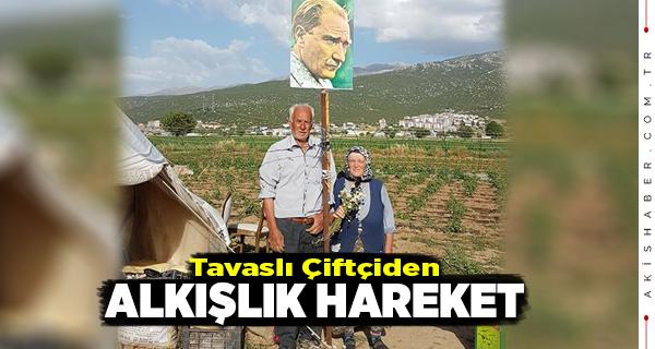 Tavaslı Çiftin Bayrak ve Atatürk Sevgisi