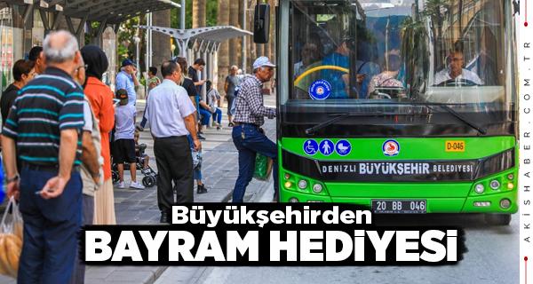 Denizli'de Otobüsler Bayramda 2 Gün Ücretsiz