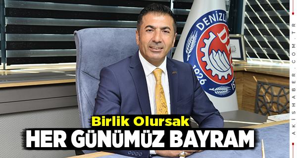 DTO Başkanı Erdoğan Vatandaşın Bayramını Kutladı