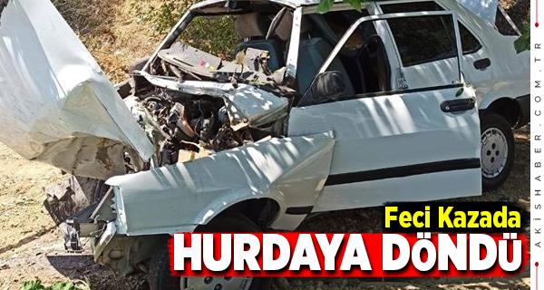 Buldan'da Genç Sürücü Ölümden Döndü