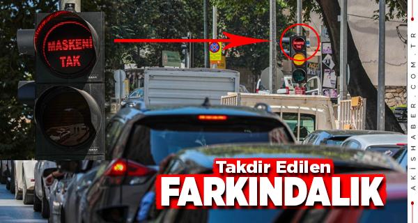 Büyükşehir Trafik Işıklarıyla Dikkat Çekti