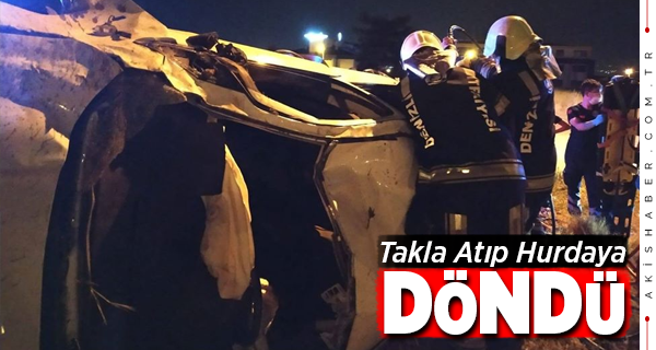 Denizli'de Feci Kaza: 2 Yaralı