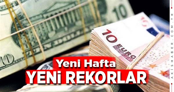 Dolar ve Euro Yeni Haftaya Rekorla Başladı