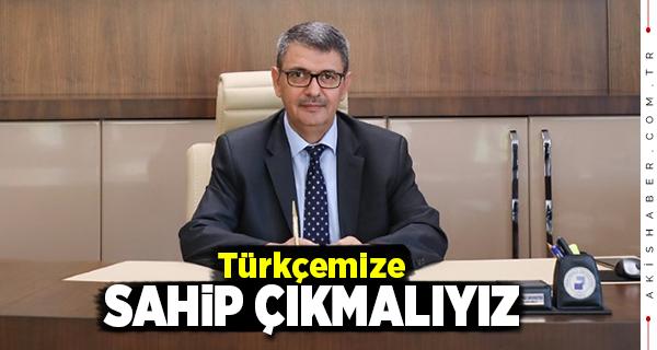 PAÜ Rektör Vekili Kutluhan'dan Türk Dil Bayramı Mesajı