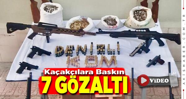 Denizli'de Silah Kaçakçıları Jandarmadan Kaçamadı