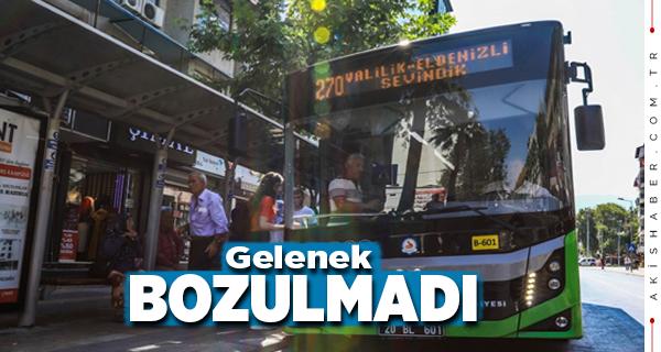 Büyükşehir Otobüsleri Hafta Sonu Ücretsiz