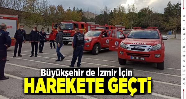 İzmir'deki Kurtarma Çalışmalarına Denizli'den Takviye