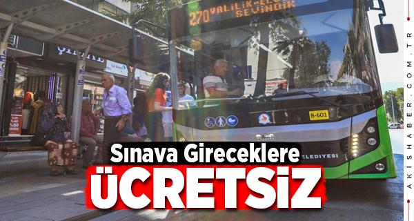 Denizli'de KPSS'ye Gireceklere Otobüs Ücretsiz