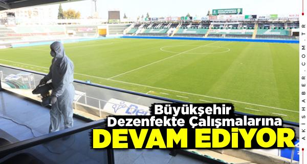 Gaziantep Maçı Öncesi Stadyum Dezenfekte Edildi