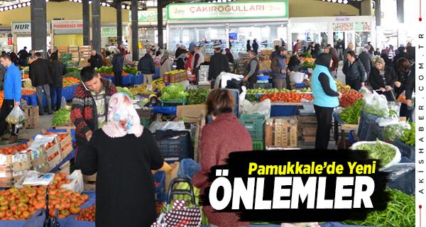Pamukkale'de Hafta Sonu Pazarlarının Günleri Değişti