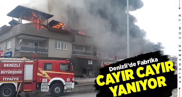 Denizli'de Fabrika Yangını: Ekipler Müdahale Ediyor