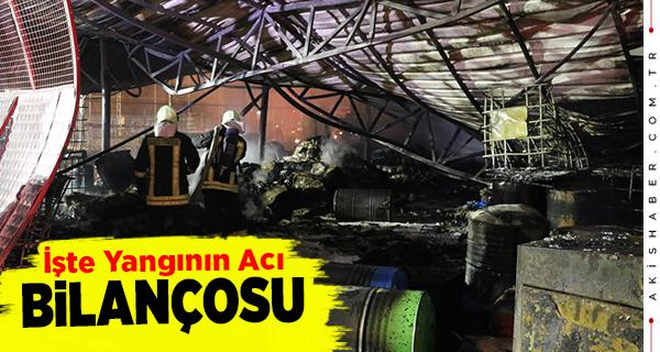 Denizli'de Fabrikada Çıkan Yangın Söndürüldü