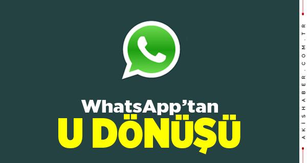 WhatsApp'tan Tepkilerden Sonra Geri Adım